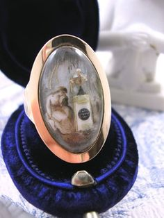 Georgian Rose Gold Mourning Ring with Ivory Miniature dating from 1798. Part of my Gallery of Sold items at Kittys Antique Jewelry http://www.kittysantiquejewelry.com/Gallery-of-Sold-Items-s/1851.htm