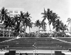 Looking west from the FERA-built stage in the park - West Palm Beach, Florida 1935