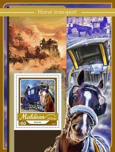 MLD17109b Horse transport (Barouche) Horse Transport, Maldives, Transportation, Stamps, Horses, The Maldives, Seals, Horse, Postage Stamps