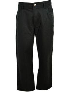 Perry Ellis Mens Summer Twill Pants 38x30 Soft Flat Front Casual Black NEW #PerryEllis #CasualPants
