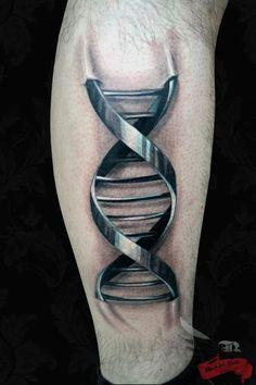 3D DNA Tattoo leading the tattooist contest week 4!