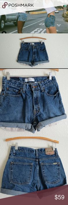 "Vintage LEVI'S High Wasted Jean Shorts Size is 28"" waist super cute for the summer and different high wasted jean shorts. Vintage Levi's urban outfitters nasty gal jean shorts high wasted Levi's Shorts Skorts"