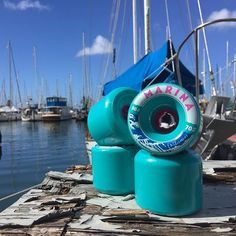 The Marina sitting dockside. These wheels should be available within a few months..