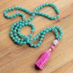 Malaysian Jade Mala Necklace  Prayer Beads by TheMintedMagpie