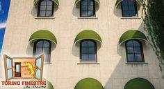 Tende da Sole a Cappottina modello Cupola K36/K50 Multi Story Building, Mansions, House Styles, Decor, Decoration, Manor Houses, Villas, Mansion, Decorating