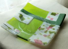 Fused Glass Art Plate Springtime Sonata 2 by GlassWorksLimited
