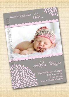 simple birth announcement