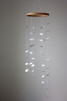 Star Mobile - White Star Mobile - Modern Baby Crib Mobile - White Star Galaxy - Free Shipping Etsy. $39.95, via Etsy....or easy DIY