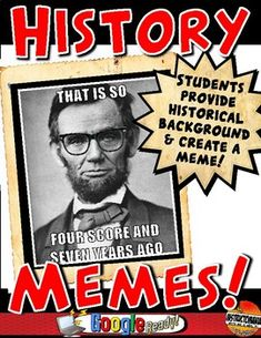 History Memes for Ancient World History, Medieval History or US History - What a FUN way to get students involved in processing contributions of key historical figures in hi - History Classroom Decorations, World History Classroom, History Teachers, Teaching History, Teaching Resources, Classroom Ideas, History Education, Classroom Projects, Google Classroom