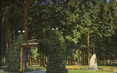 Vintage Coeur D'Alene, Idaho - City Park West Entrance