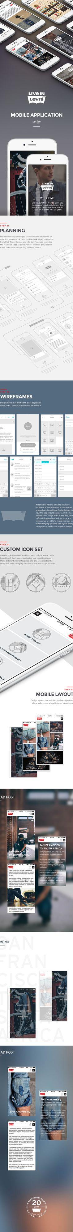 Leviu0027s Mobile App on App Design Served