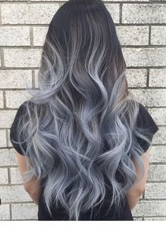 Exclusive #Black And #grayhair Ombre Hairs #ombrehair #haircolor #haircolortrends