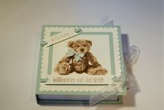 Babybox - Junge (Stampin up) Box, Cash Gifts, Guys, Snare Drum
