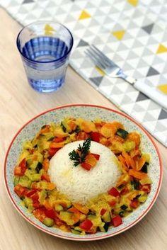 Légumes au lait de coco et curry - 3SP Weight Watchers