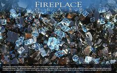 Royal Black Ice Premixed Fireplace Glass