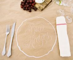 draw names directly onto paper table cloths/placemats.butcher paper table cloths for my barbeque brisket wedding meal? Wedding Blog, Wedding Reception, Our Wedding, Wedding Ideas, Reception Ideas, Wedding Stuff, Wedding Photos, Reception Seating, Casual Wedding