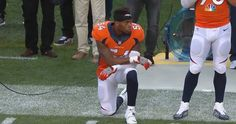 Broncos player kneels in support of Kaepernick during anthem of NFL season opener