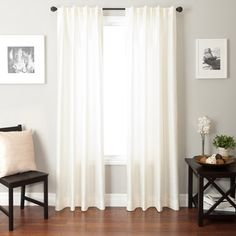 Colchester Ave Bergamo Back Tab and Rod Pocket Curtain Panel -maybe these for the living room?