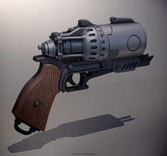 Gun Concepts, Loren Broach on ArtStation at https://www.artstation.com/artwork/N2W1D