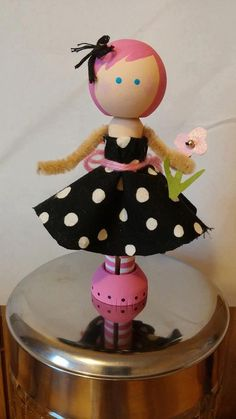 Hey, I found this really awesome Etsy listing at https://www.etsy.com/listing/201775843/pinkie-pie-clothespin-doll
