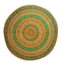 "Mandala Indian Wall Hanging Cotton Tapestry Round White Boho Home Décor Throw 80"" Diameter: Amazon.co.uk: Kitchen & Home"