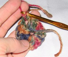 granny square in progress by Jennifer Ofenstein (sewhooked.com), via Flickr