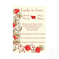 Casino Las Vegas Wedding Invitation #lasvegas #wedding