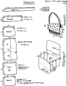 Making Shoulder Bag Pattern 56