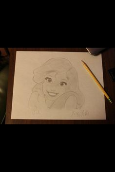 A drawing of Ariel, the Little Mermaid I did about a year ago :)