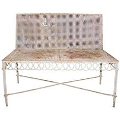 Bench by Matégot | From a unique collection of antique and modern patio and garden furniture at https://www.1stdibs.com/furniture/building-garden/garden-furniture/