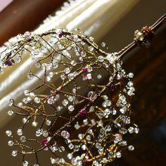 A Crystal Ball Sunshower Chandelier por BellStudios en Etsy