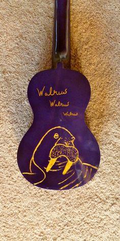 walrus purple ukulele