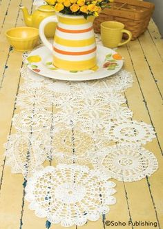 Vintage Doily Table Runner - It's easier than you'd think to put a modern twist on these old-fashioned table-toppers!