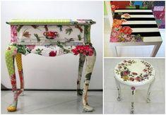 FabArtDIY – Decoupage Old Furniture DIY Tutorial (Video) | www ...
