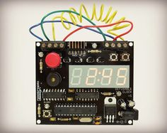 """The Defusable Alarm Clock kit is an electronics kit that lets you build a scary looking clock that you can actually """"defuse""""."""