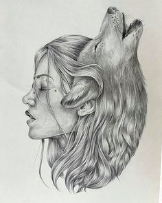 the wolf is my spirit animal wolf art sketches, wolf - wolf art drawings Art Drawings Sketches, Illustration Sketches, Animal Drawings, Wolf Drawings, Sketch Art, Tattoo Sketches, Girl Illustrations, Sketch Ideas, Fantasy Illustration