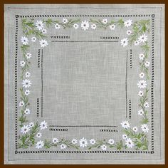 Embroidered Table Overlay - Luisa Fernanda G