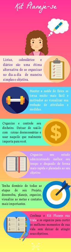 Printables de planejamento - Kit Planeje-se - Organize sua vida, seus projetos, suas atividades físicas, suas finanças e seus estudos.