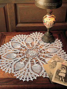 Peacock Doily - free crochet pattern