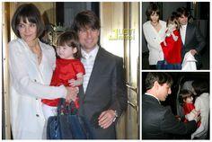 Actress - hair - cabelo - pelo - beautiful - bonita - hermoso - moda - look - style - estilo - inspiration - inspiração - inspiración - fashion - elegant - elegante - chic - dress - vestido - red - vermelho - Helena & Harry - pantyhose - meia calça - Tights - child - criança - baby - bebê - daughter - filha - hija - father - pai - padre - dad - papai - papá - mother - mãe - madre - mom - mamãe - mamá - happy family - família feliz - January - 2008 - Katie Holmes - Suri Cruise - Tom Cruise
