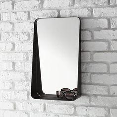 Black Vertical Arch Iron Wall Mirror