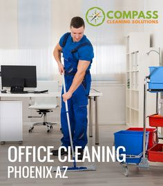 Studies indicate that office cleaning highly contributes to success at work. Choosing the right cleaning service company for your business can help you feel free from making your office clean. At Compass Cleaning Solutions in Phoenix, AZ we use proven products that are all organic which is safe for the people and kind to the environment. Also, we understand the proper use and application of the products to provide the highest results possible.