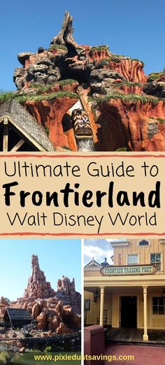 Ultimate Guide to Frontierland at Walt Disney World- Shopping, Dining, and Attractions. Disney World Guide, Disney World Parks, Walt Disney World Vacations, Disney World Tips And Tricks, Disney Tips, Disney Fun, Disney Worlds, Disney Travel, Disney Ideas