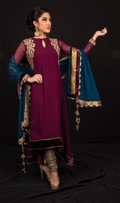 Shyamal & Bhumika dark purple anarkhali