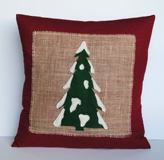 One Christmas tree Pillow cover, 20x20, holiday pillow, decorative pillow,  Christmas decoration
