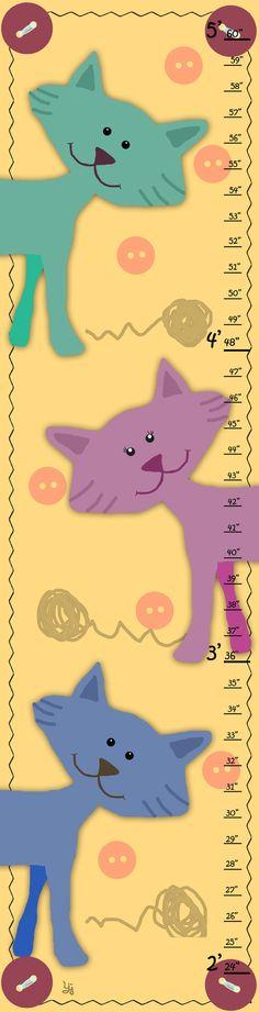 Kitties on Yellow Growth Chart