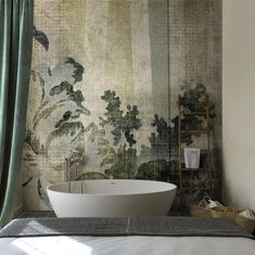 Leaves on the wall, this is ORIENTAL Check it out on David Selection Vol.4 Design @pietrogaet / NowLab Milano . . . Available in paper backed wallpaper, fiberglass, acoustic and digital fresco.