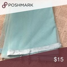 Net long scarf (dupatta) Sky blue color Accessories Scarves & Wraps