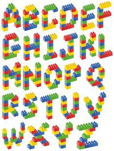 stickers for hydroflasks boys Lego Basic, Lego Themed Party, Lego Birthday Party, Lego Club, Lego For Kids, Diy For Kids, Lego Letters, Alphabet Letters, Van Lego
