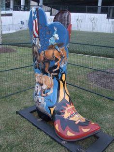 Cowboy Boot Art, Houston Rodeo, Houston, Texas